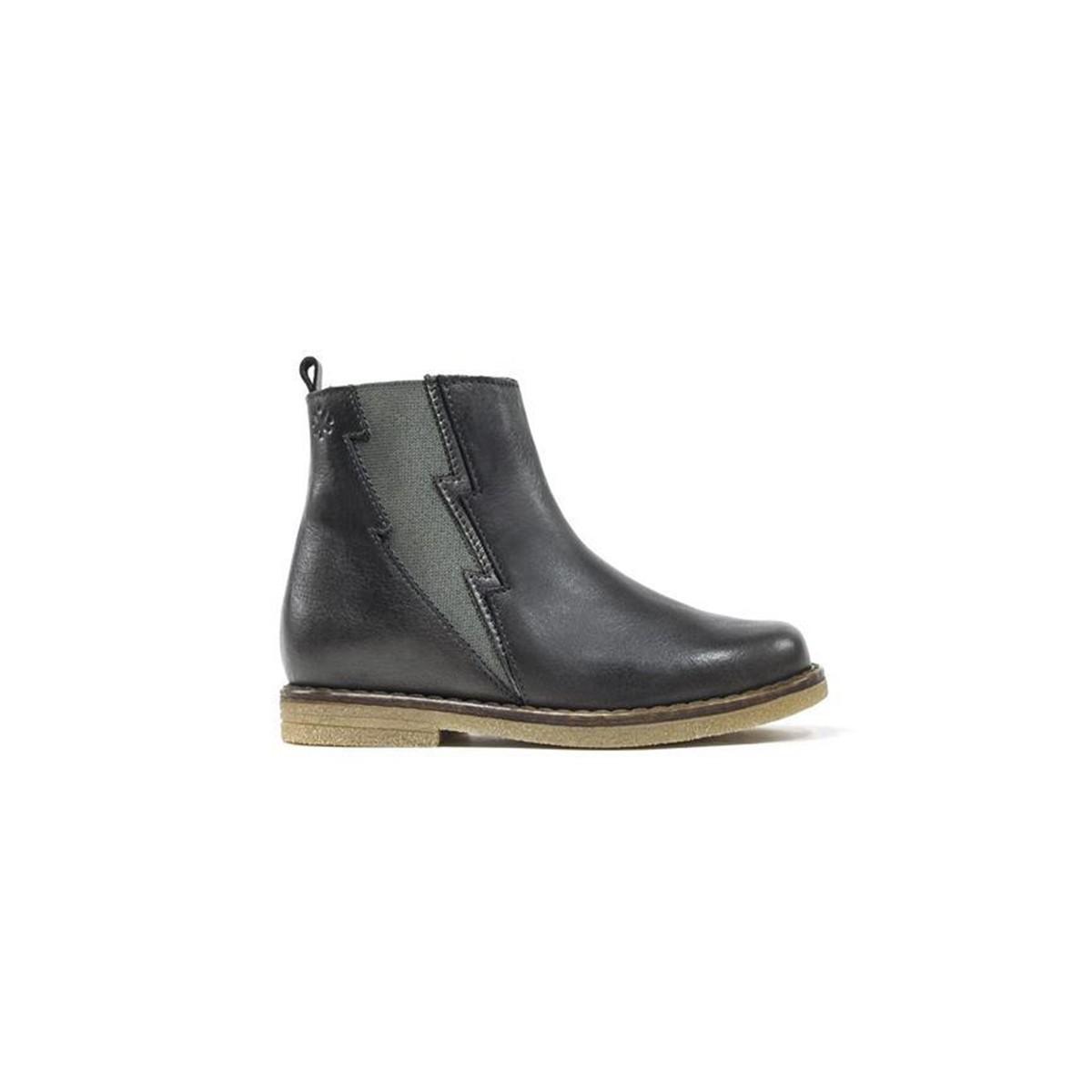 Boots éclair gris foncé