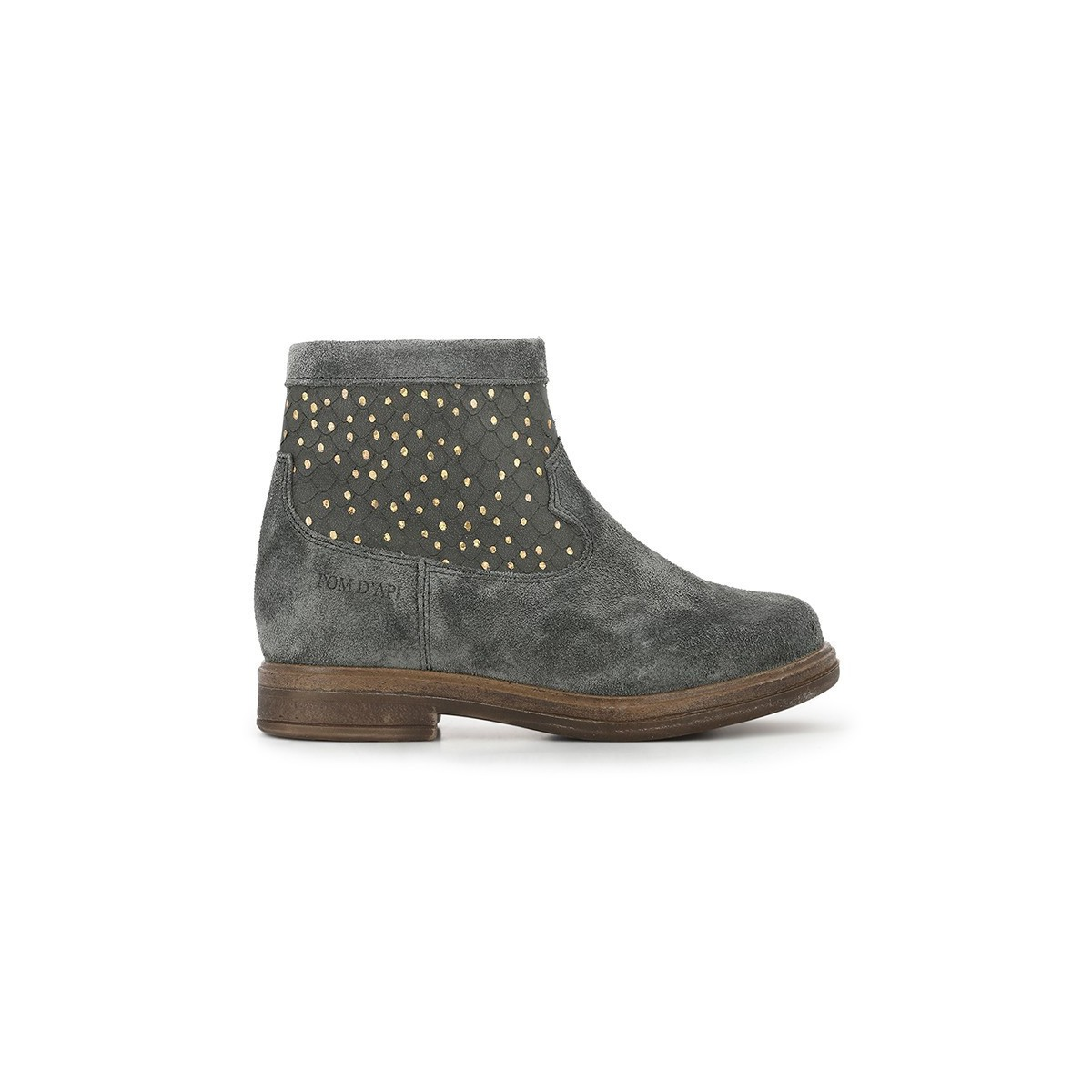 Boots Hobo Cover velour etain
