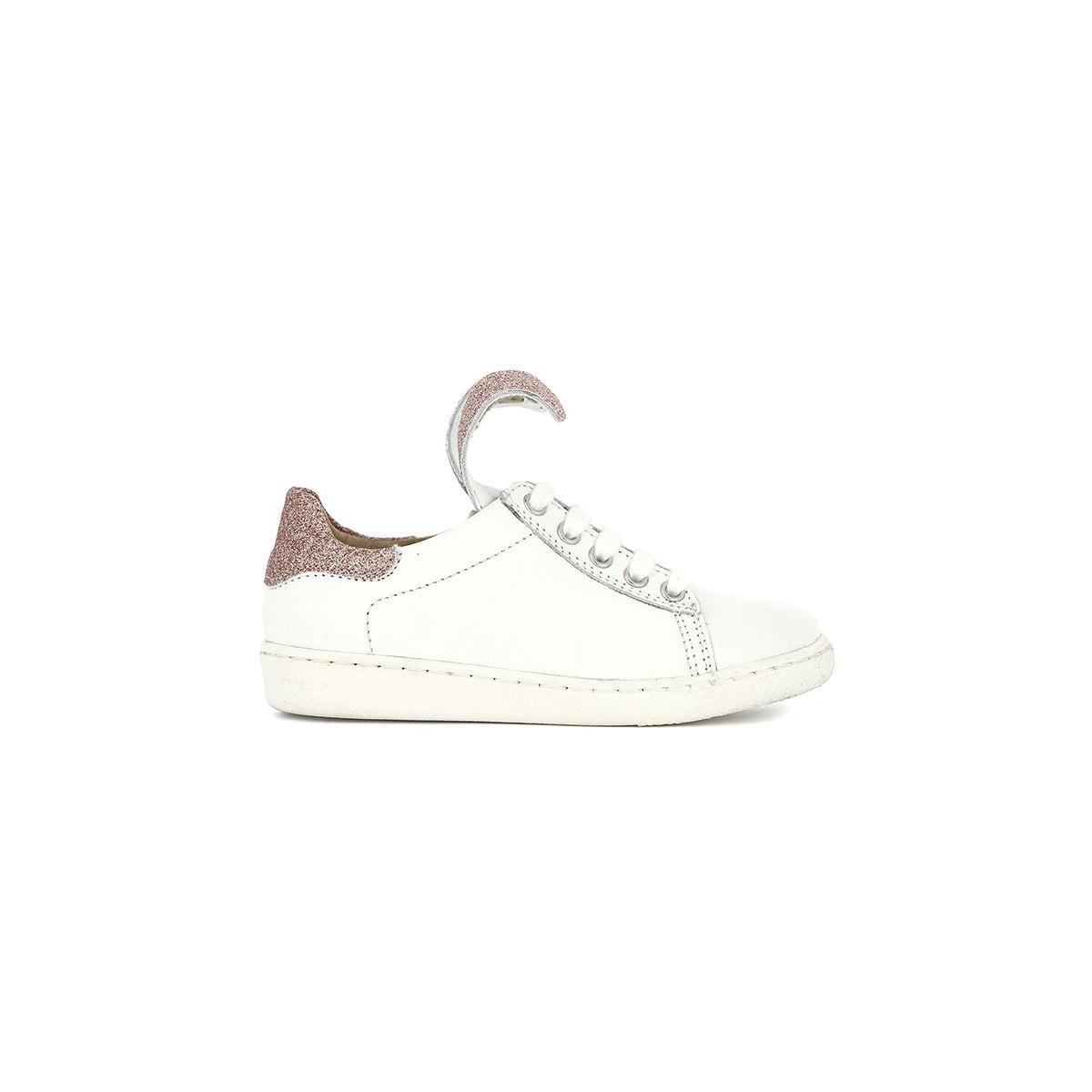 Basket Ducky Lapin cuir blanc