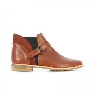 Boots Odeon cuir cognac