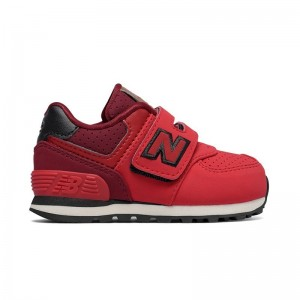 Basket New Balance KV574 velcro red/black