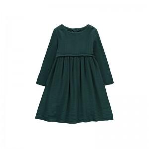 Robe Cotton Gause Vert Sapin