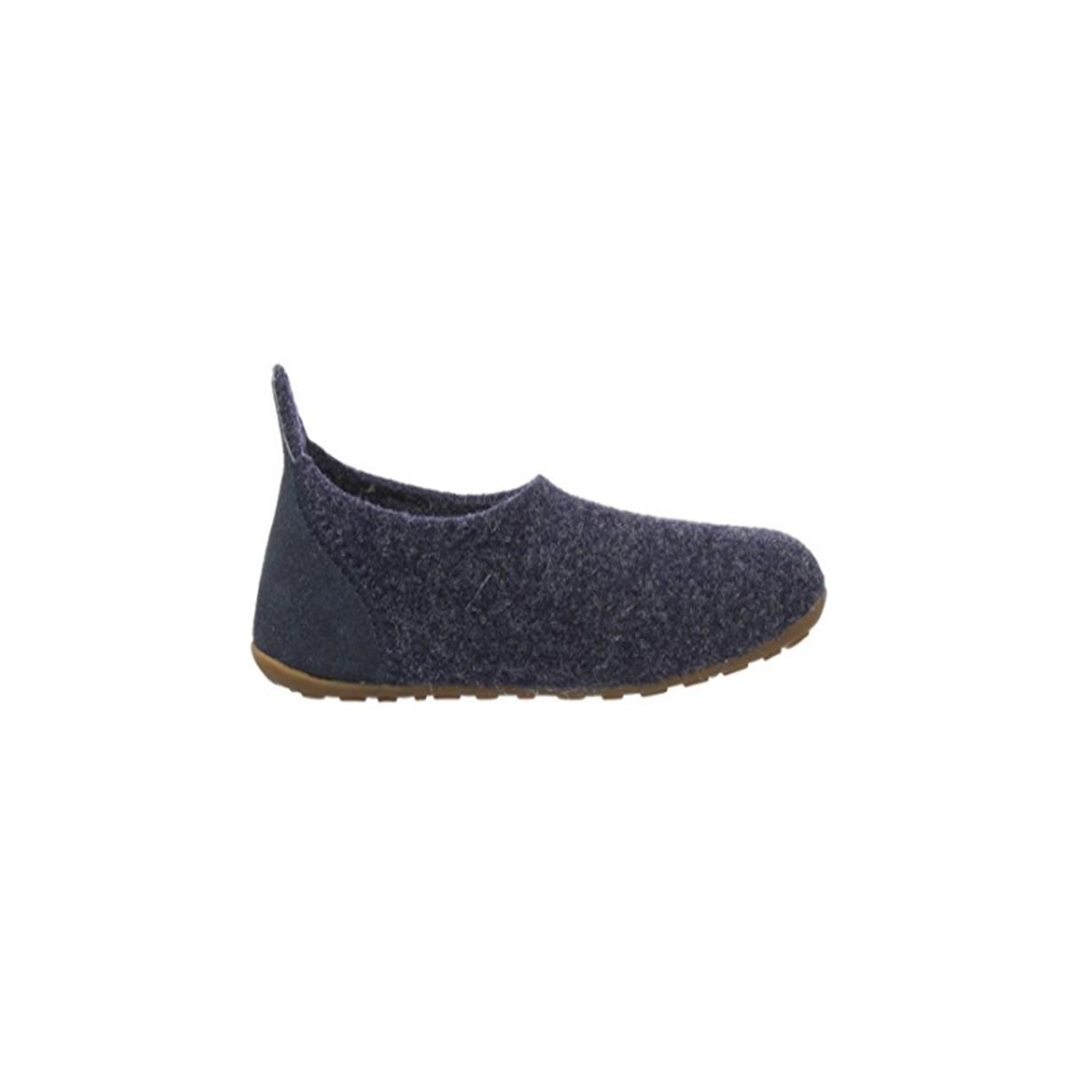 Chausson en laine bleu jean