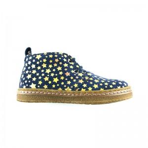 Desert boot cuir bleu étoile