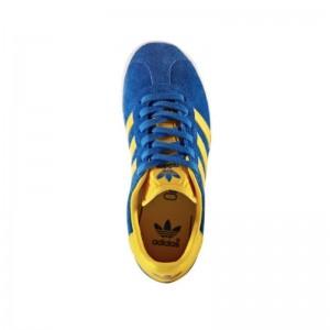Basket Gazelle bleu roi/jaune