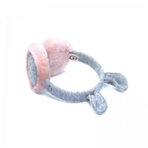 Cache oreille rose/gris