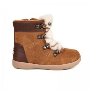 Chaussures Ager fourrée peau camel