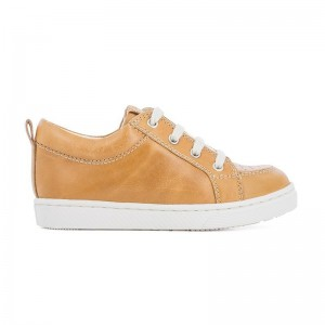 Basket Base lo cut cuir camel
