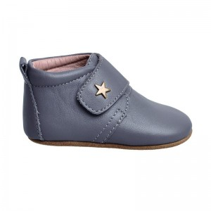 Chaussons star velcro gris