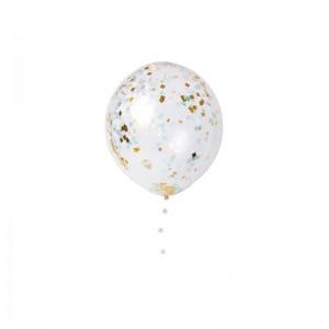 Ballons géants confettis irisés