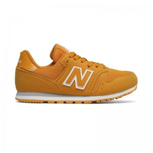 Basket New Balance KJ373 lacets omy yellow