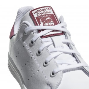 Basket Stan Smith lacets blanc/bois de rose