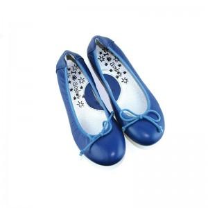 Ballerine Acebos cuir bleu