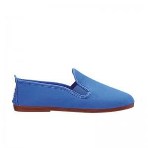 Chausson Flossy toile bleu Roi