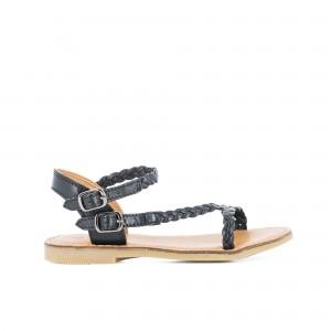 Sandale Lazar bi stripes tresse black