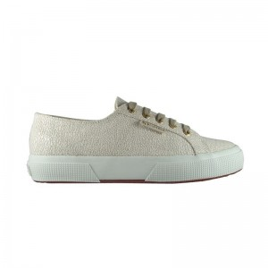 Basket lacets Superga natural drew white
