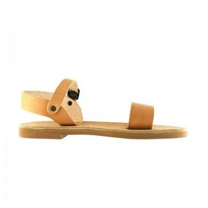 Sandales grecques Tinos cuir naturel