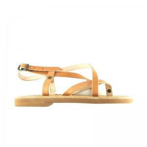 Sandales grecques Ios cuir naturel