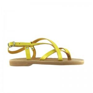 Sandales grecques Ios cuir jaune