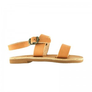 Sandales grecques Milos cuir naturel