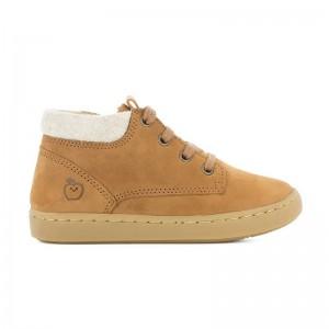 Chaussures montante fourrée Play desert camel/ecru