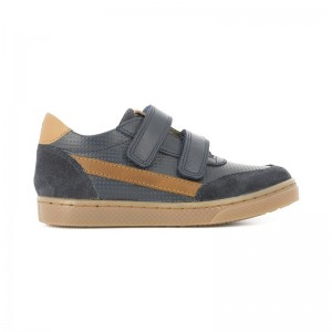 Chaussure velcro Ten base jog navy/brown