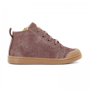 Basket Ten mid lace prune platine