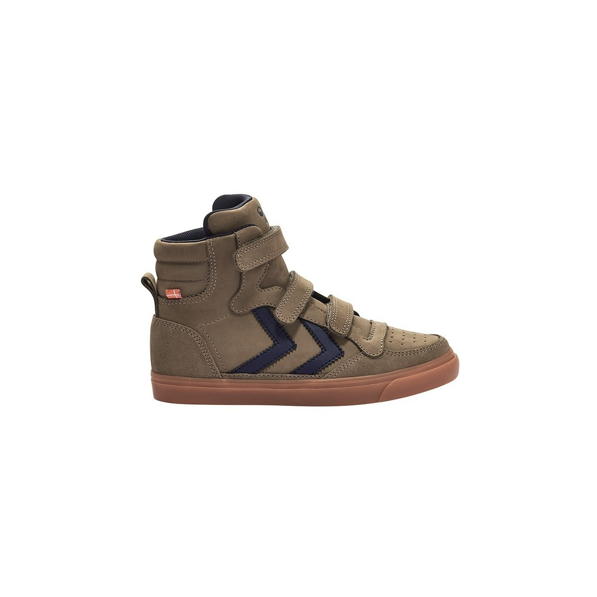 Basket montante Stadil Rubber velcro cuir Taupe Grey