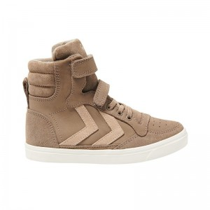 Basket montante Stadil velcro cuir Taupe Grey