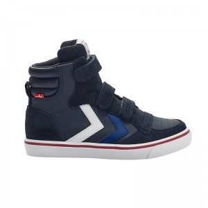 Basket montante Stadil velcro cuir Peacot aw18