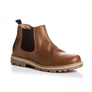 Boots Ruben en cuir noisette
