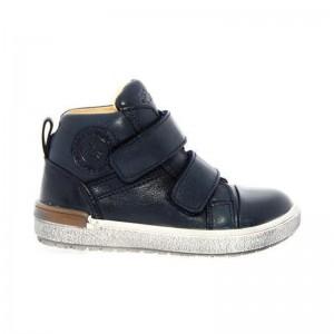 Chaussures Acebos montante 3 velcros cuir marine