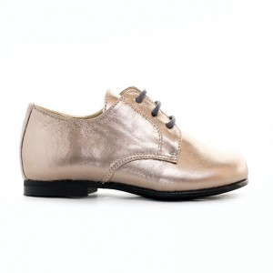 Derby Jackie cuir bronze gold