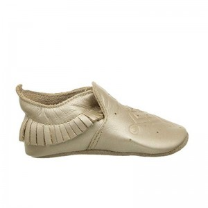 Soft Sole Bobux Trim Mocassin Gold