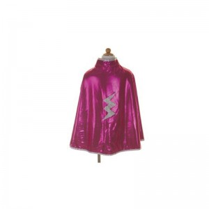 Cape reverssible super héro rose argent 4/6
