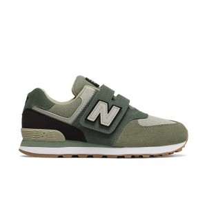 Basket New Balance 574 velcros MLD Green