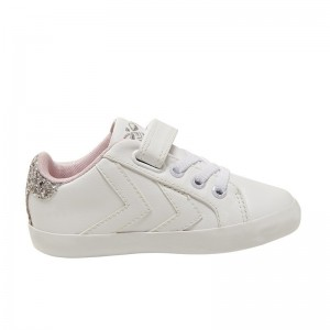Basket Hummel Duce court kids blanc