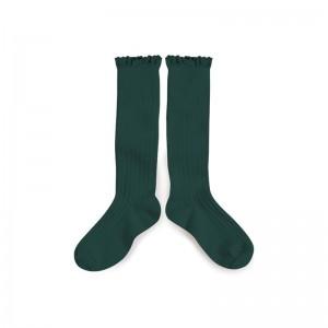 Chaussettes hautes avec dentelle Fonds Marins
