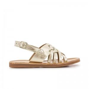 Sandale Plagette Cut Laminato Platine