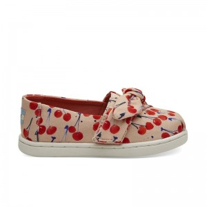 Basket Toms Classic toile velcro Cherry