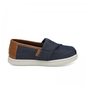 Basket Toms toile velcro Classic Denim navy