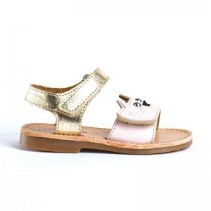 Sandale Janette Cuir Rose