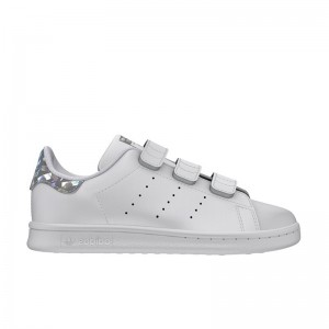 Basket Stan Smith velcros blanc/miroir crac