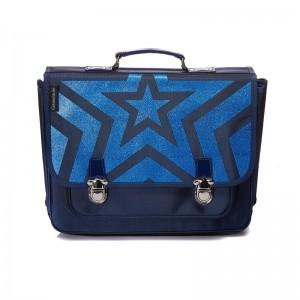 Cartable GM Etoile Paillette Bleu