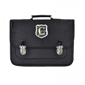 Cartable GM Ecusson Noir