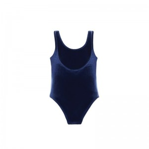 Bodysuit Aérobic velour blue