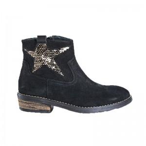 Boots Reqin's Bonita peau noir/or