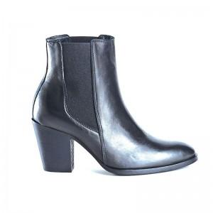 Boots Reqin's Fox cuir noir