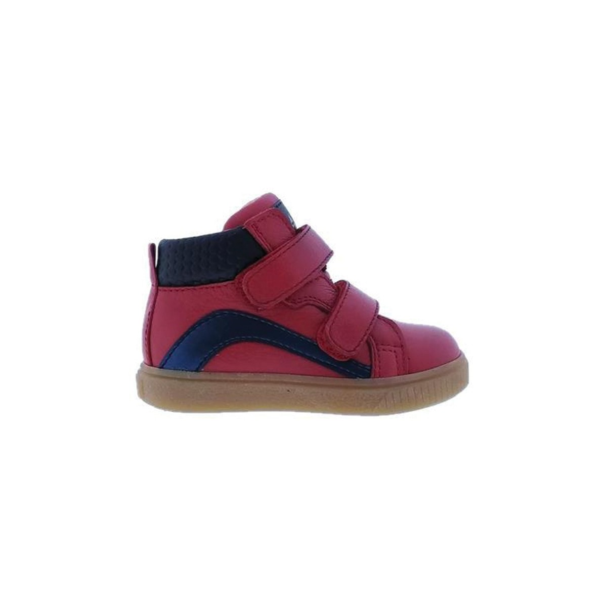 Basket Acebos cuir montante bi color Rouge