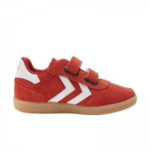 Basket basse Victory velcro Rouge Poinsetta